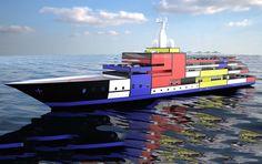 #Mondrian #Boat