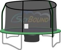 14' Trampoline Enclosure Safety Net For 4 Pole / Top Ring G4 Fits Orbounder, 2015 Amazon Top Rated Trampolines #Sports