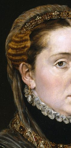 La dama del joyel, 1552, Empress Maria of Austria, wife of Maximilian II, 1551, by Antonio Moro (aka. Anthonis Mor, and Anthonis Mor van Dashorst) (Dutch, 1517-1577)