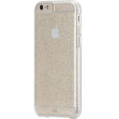 """Glamourous Glitter iPhone 6 (4.7"""") phone case. Add a touch of sparkle to your life with this protective dual layered cover. The smooth translucent glitter finish will make you dazzle on a night out and its enhanced impact resistance means that even if your drop your brand new iPhone 6 it will stay pretty for ever! #iphone6 #sparkle #glitter #pretty #girly"""