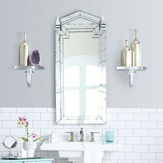 Ping Art Deco Bathroomart Mirrormodern