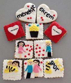 Love cookie :) / Aşk kurabiyeleri Bilgi ve sipariş için whtsapp numaramız 0544 323 50 72 www.kurabiyenoktasi.com