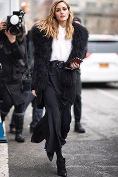 Olivia Palermo - Walks down the street
