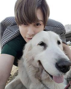 """#Jaehyo 160318 @bbjhyo IG update """"가까이서 보면 더 헤벌레 #리트리버"""""""