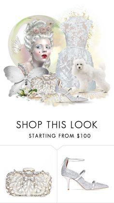 """""""Lady in White"""" by neverboring ❤ liked on Polyvore featuring Elie Saab, Natasha, Malone Souliers, contestentry, polyvoreeditorial and dreamydresses"""