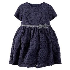 Carters Baby Girls Special Occassion Navy Lace with Spark...