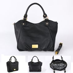 Marc by Marc Jacobs accessory Core Classic Q Fran women black handbag signature logo plaque bag 649 -$49