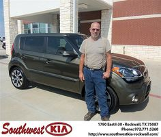 Happy Anniversary to Mark Fawley on your 2013 Kia Soul from Jonathan Elizondo and everyone at Southwest KIA Rockwall!