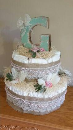 Shabby Chic Diaper Cake