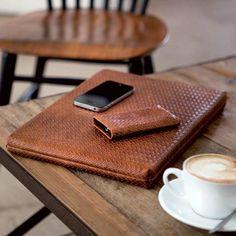 Lapâporter Braided Leather Laptop Sleeve
