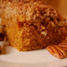 Pumpkin Streusel Cake  vegan, plantbased, Earth Balance, Made Just Right