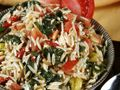 Chicken, Orzo, and Spinach Salad - The Heritage Cook ® Potato salad would not tell Spinach Feta Salad, Spinach And Cheese, Happy Potato, Chicken Orzo, How To Cook Potatoes, Grilled Meat, Easy Salads, Have Time, Meal Planning