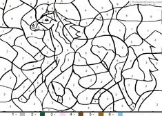 number coloring pages  Color By Number Coloring Pages For Kids