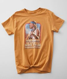 Gina Willie Nelson Guitar T-Shirt - Women's T-Shirts in Peach | Buckle Credit Card Services, Closet Renovation, Weather Day, Willie Nelson, Rib Cage, Guitar, T Shirts For Women, Belly Button, Cotton