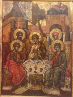 Royal icon: The Holy Trinity, late17th century, Wallachia