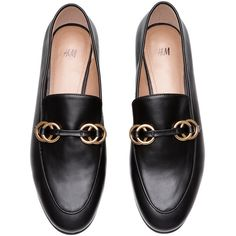 Loafers $29.99 (1.740 RUB) ❤ liked on Polyvore featuring shoes, loafers, flat pumps, black shoes, embellished flats shoes, flat shoes and black loafers