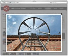 Projekt: Terrania Industriepark - Website mit Flowfact Immobilien-Datenbank, Entwicklung Corporate Design und Logo