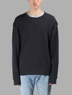 MAISON MARGIELA MAISON MARGIELA MEN'S DRAK GREY SWEATER. #maisonmargiela #cloth #sweaters