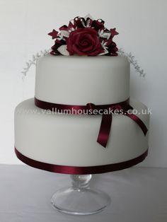 claret wedding | Claret Wedding Cake