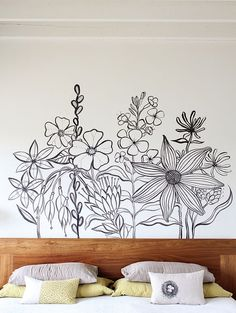 Astounding 24 DIY Flower Wall Bedroom https://decoratop.co/2017/12/25/24-diy-flower-wall-bedroom/ The idea of turning her room into a large purple cave wasn't appealing to me. If you prefer the appearance of wallpaper there is guaranteed to be a pattern that compliments your room plans.