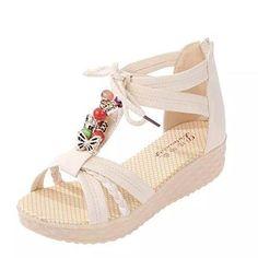 Oferta: 11.6€. Comprar Ofertas de Transer 2016 1Pair Linda mujer ocasional peep-toe de la hebilla plana sandalias de los zapatos de las mujeres del verano (36, barato. ¡Mira las ofertas!