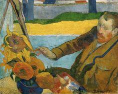 Paul Gauguin: Vincent van Gogh painting sunflowers, 1888. Oil on canvas, 73 x 91 cm. Van Gogh Museum, Amsterdam