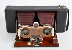 BLAIR Kodak Stereo HAWKEYE #2 Bausch & Lomb Goerz Double Anastigmat Lens Folding