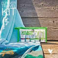 Forever TravelKit. Take a bit of Forever with you, wherever you go... #Summer #ForeverLiving #Aloe