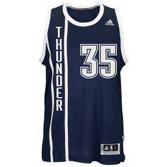 Men's Adidas Oklahoma City Thunder Kevin Durant Swingman NBA Replica Jersey, Size: X
