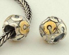 CLLE03SC 925 Sterling Silver Alphabet letter C Pandora Charms beads Pandora Letters