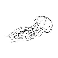Croquis, Fine Line, illustratif, handpoke. Tattoo par L. Jellyfish Drawing, Jellyfish Tattoo, Jellyfish Painting, Watercolor Jellyfish, Tattoo Watercolor, Jellyfish Quotes, Flash Art Tattoos, Funny Tattoos, Cute Tattoos