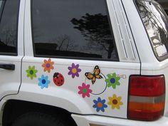 Girly Flowers Piece Car Magnet Set Girly Car Accessory Gift - Make a custom car magnet