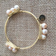 Bourbon and Boweties Champagne Triple Pearl Standard Wrist  $28 and FREE SHIPPING! www.twocumberland.com