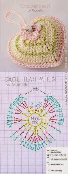 My World Craft: Crochet de coeurs