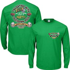 97690ad6e Amazon.com   Smack Apparel ND Football Fans. Tailgating in South Bend Green  Long Sleeve T Shirt (Sm-5X)   Sports   Outdoors