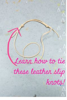 Learn how to tie a leather slip knot! It's easier than you think. Pin and save this super cute Boho Bracelet DIY Tutorial from Pop Shop America.