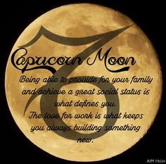 Keywords a Capricorn Moon can relate to. Enjoy!