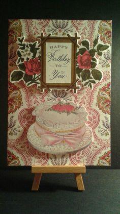 Birthday Card www.etsy.com/shop/jengirlsdesigns #etsy #jengirlsdesigns #handmade #card #handmadecard #birthday #birthdaycard #forhim #cake #birthdaycake