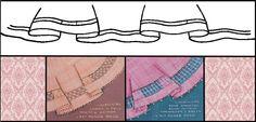 Se inverter o lado direito do desenho para o avesso a bainha sai em outro sentido conforme desenho abaixo. www.criatividadesemlimites.com.br