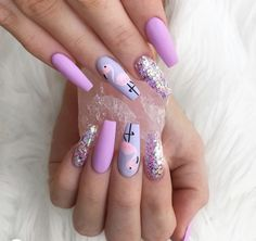 Nail art Christmas - the festive spirit on the nails. Over 70 creative ideas and tutorials - My Nails Summer Acrylic Nails, Best Acrylic Nails, Cute Nails, My Nails, Emoji Nails, Flamingo Nails, Beach Nails, Luxury Nails, Pretty Nail Art