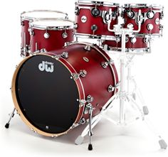 DW Satin Oil Rock Set Cherry SSC+ #DW #drums #thomann