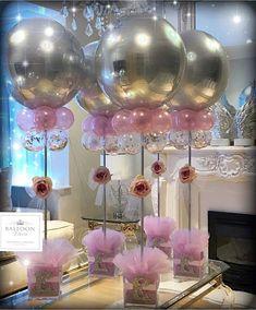 💗Balloon Centrepiece 💗 #balloondecor#balloondecorating#festas #balloonartist#ballooncentrepiece#elegance#bespoke#birthdaypartyideas…