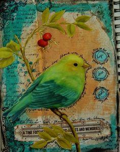 Art journals 844636105088863748 - Another dose of Art Journaling – using Vintage Autumn Basics Artist Journal, Art Journal Pages, Art Journals, Kunstjournal Inspiration, Art Journal Inspiration, Journal Ideas, Junk Journal, Mixed Media Canvas, Mixed Media Collage