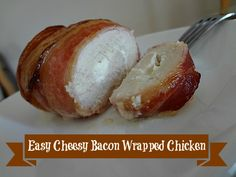 Easy Cheesy Bacon Wrapped Chicken #recipe via www.jmanandmillerbug.com