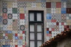 Azulejos (Portuguese tiles) that embellish public buildings and private houses in Porto, Portugal