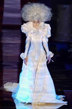 Lily Cole in Christian Lacroix haute couture