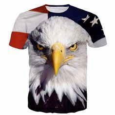 USA Collection - Exclusive: Eagle USA Flag 3D T-Shirt