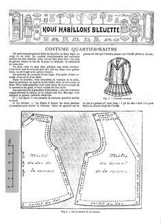 PAR AMOUR DES POUPEES :: 1906-08 Costume de quartier-maître pour Bleuette