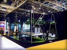 Fotos del stand construido para Baraka para la feria SIMA 2016 Exhibition Stand Design, Trade Show Booth Design, Exhibition Stall, Display Design, Stand Feria, Corporate Office Design, Bathroom Design Luxury, Environmental Design, Glass House