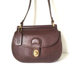 c3b8dc951b08 vintage COACH brown crossbody leather saddle bag. Bonnie CashinLeather Saddle  BagsVintage ...